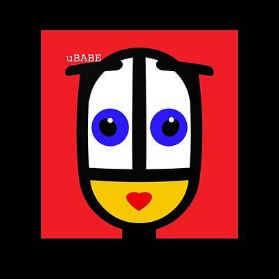 Digital Art - Ubabe Red by Ubabe Style