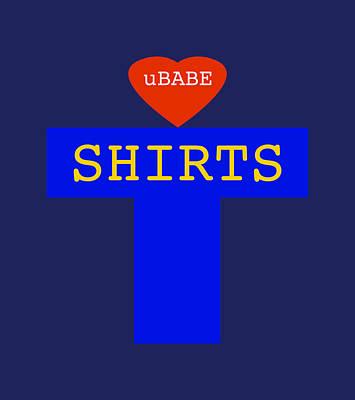 Digital Art - Ubabe Shirts by Ubabe Style
