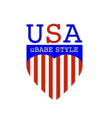 Digital Art - Ubabe Style America by Ubabe Style