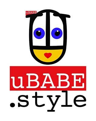Digital Art - Ubabe T Shirt by Ubabe Style