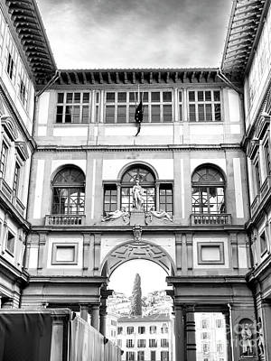 Photograph - Uffizi Gallery View Toward The Arno Florence by John Rizzuto
