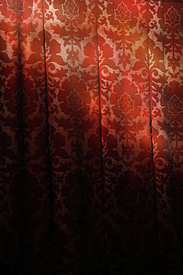 Uk, England, Oxford, Light On Red Fabric Art Print by Westend61