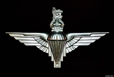 Photograph - Uk Parachute Regiment Emblem by Weston Westmoreland