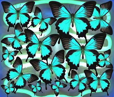 Wall Art - Digital Art - Ulysses Multi Blue 2 by Joan Stratton