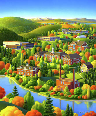 Painting - University Of Maine by Robin Moline