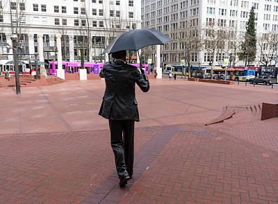 Photograph - Umbrella Man by Steven Clark