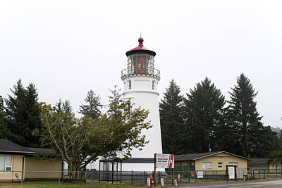 Photograph - Umpque River Lighthouse Oregon V2 101818 by Rospotte Photography