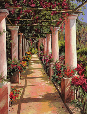 Colorful Button - Un Viale Di Colonne by Guido Borelli