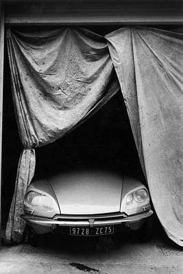 Photograph - Under A Garage In Paris, France In 1960 by Herve Gloaguen