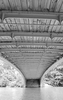 Photograph - Under Bow Bridge 1 B W  by Rob Hans