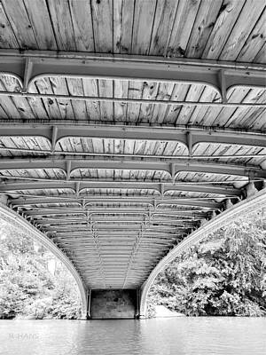 Photograph - Under Bow Bridge B W by Rob Hans