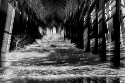 Photograph - Under Pier Wave Abstract by Sven Brogren