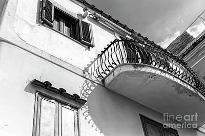 Photograph - Under The Balcony Positano by John Rizzuto