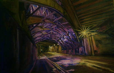 Painting - Under The Bridge by Rosanne Gartner
