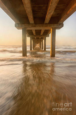 Photograph - Under The Horace Caldwell Pier Port Aransas Texas by Ronda Kimbrow