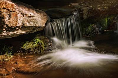 Photograph - Under The Little Waterfall  by Saija Lehtonen