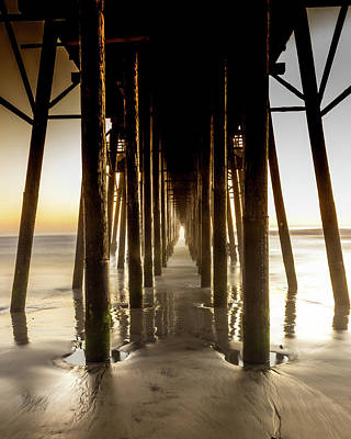 Photograph - Under the Oceanside Pier by Kevin Davis