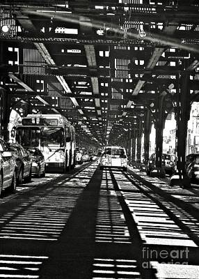 Transportation Royalty-Free and Rights-Managed Images - Under the One Train in the Bronx by Sarah Loft