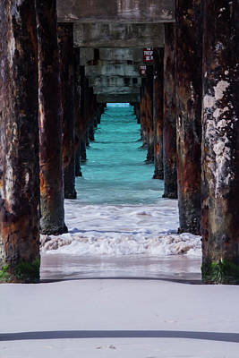Photograph - Under The Pier #3 Opf by Stuart Manning