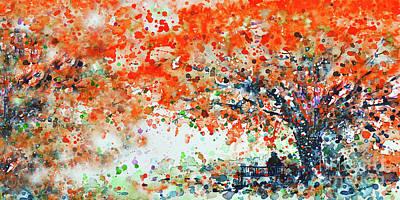 Painting - Under The Shade Of Flamboyants  by Zaira Dzhaubaeva