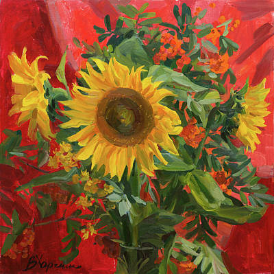 Painting - Under the sun of august by Victoria Kharchenko