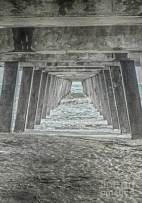 Photograph - Under The Tybee Island Pier by Judy Hall-Folde