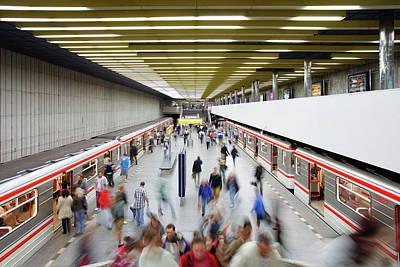 Photograph - Underground Train Arriving At by Gavin Hellier / Robertharding