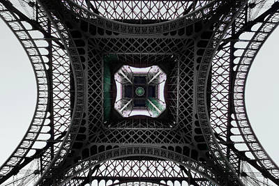 Photograph - Underneath Of Eiffel Tower, Low Angle by Ed Freeman