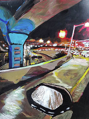 Painting - Underpass At Nighht by Tilly Strauss