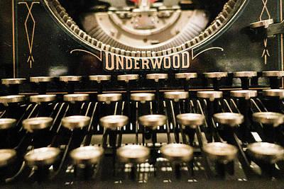 Photograph - Underwood Typewriter by SR Green