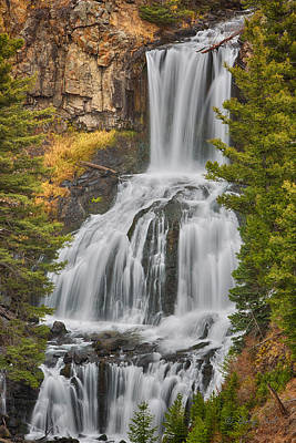 Photograph - Undine Falls2 by Gerry Sibell