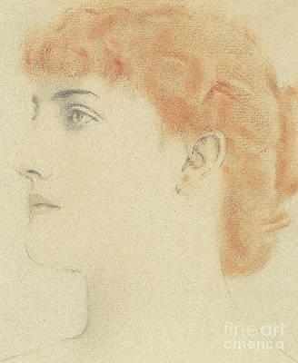 Pastel - Une Parisienne, 1916  by Fernand Khnopff