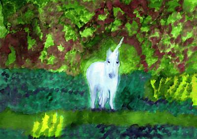 Painting - Unicorn's Forest by Dobrotsvet Art