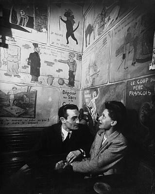 Photograph - Unident. French Couple At Cafe Tango Du by Gjon Mili
