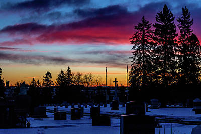 Photograph - Union Cemetary In The Heart Of The City, Calgary, Alberta, Canad by David Butler