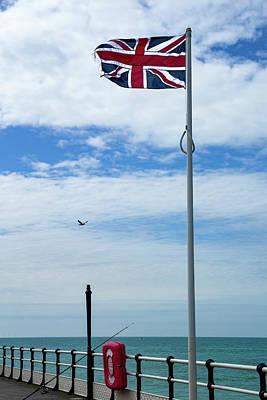 Wall Art - Photograph - Union Jack Flying In Breeze by Roslyn Wilkins