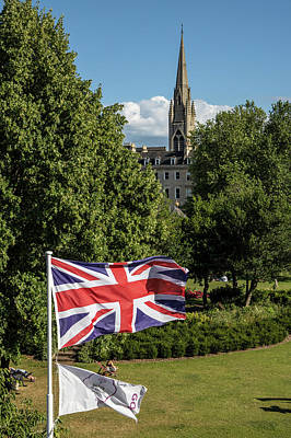 Photograph - Union Jack In Bath Uk by John McGraw