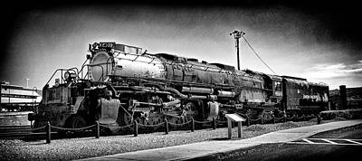 Photograph - Union Pacific Big Boy In B W by Paul W Faust - Impressions of Light