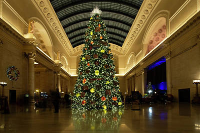 Photograph - Union Station Christmas Tree by Sven Brogren