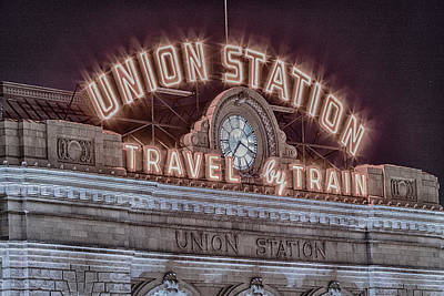 Colorado Ski Art Wall Art - Photograph - Union Station Denver #3 by Stephen Stookey