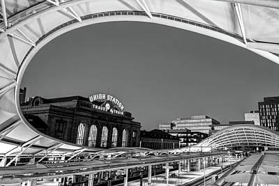 Photograph - Union Station Of Denver Colorado - Monochrome Decor by Gregory Ballos