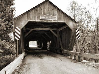 Photograph - Union Village Covered Bridge by Mary Capriole