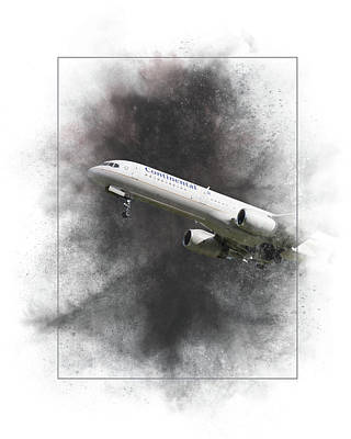 Mixed Media - United Airlines Boeing 757-224 Painting by Smart Aviation