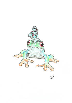 Drawing - United Colors of Frog  by Tristan R Rosenkreutz