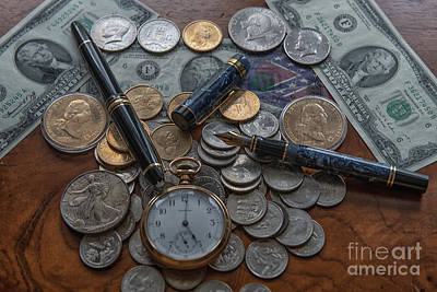 Photograph - United State Currency by Dale Powell