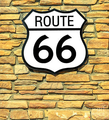 Photograph - United States Route 66 Sign by Benny Marty
