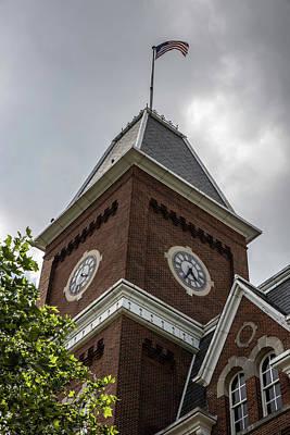 Photograph - University Hall At The Ohio State University Clock  by John McGraw