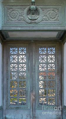 Photograph - University Of California Berkeley Doe Memorial Library Entrance Doors Dsc6957 by Wingsdomain Art and Photography