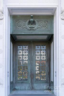 Photograph - University Of California Berkeley Doe Memorial Library Entrance Doors Dsc6960 by Wingsdomain Art and Photography