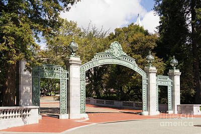 Photograph - University Of California Berkeley Historic Sather Gate Dsc6914 by Wingsdomain Art and Photography